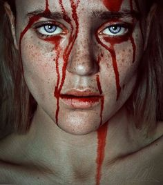 Artistic Fine Art Portrait Photography By Cristina Otero Dark Photography, Portrait Photography, Blood Art, Maquillage Halloween, Red Aesthetic, Dark Art, Cyberpunk, Art Inspo, Character Inspiration