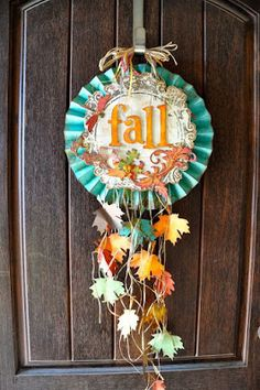 Authentique Paper: Pinspired Monday: Fall Decor and Scrapbook Adhesives by Thanksgiving Crafts, Holiday Crafts, Holiday Fun, Holiday Decor, November Thanksgiving, Fall Paper Crafts, Diy Crafts, Paper Crafting, Card Crafts