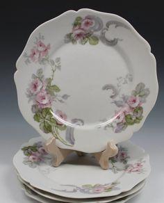 Guerin LIMOGES Porcelain 4 Salad or Dessert Plates Plate - Listing A #Limoges