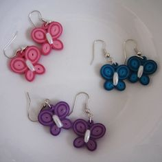 Quilling butterfly earrings More