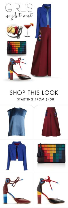 """Apéro"" by alevalepra ❤ liked on Polyvore featuring Haider Ackermann, Delpozo, Ivan Montesi, Anya Hindmarch, Malone Souliers and girlsnight"