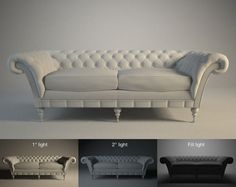 Sofa capitoneado