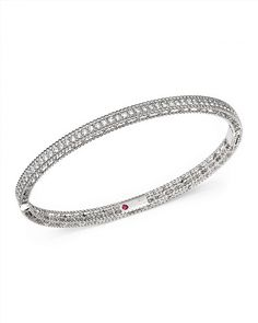 4,600.00$  Watch here - http://vigcb.justgood.pw/vig/item.php?t=xt6c74k45303 - Roberto Coin 18K White Gold Symphony Braided Bangle Bracelet with Diamonds