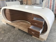 Office Table Design, Office Furniture Design, Home Office Design, Home Decor Furniture, Furniture Online, Furniture Showroom, Tv Unit Furniture, Showroom Interior Design, Living Room Tv Unit Designs