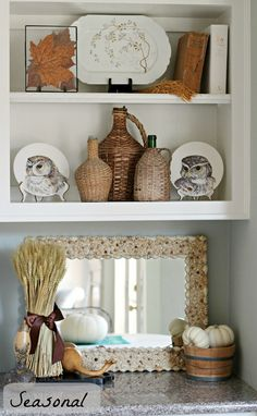 Curious Details: One Shelf Three Ways To Decorate - great post on shelf styling We all know why my eye was drawn to this Styling Bookshelves, Bookcase Shelves, Bookcase Organization, Display Shelves, Shelving, Mantel Styling, Kitchens And Bedrooms, Dream Decor, Home Decor Accessories