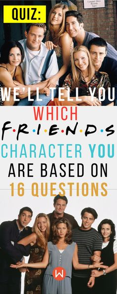 Quiz: Which Friends character are you? Buzzfeed Quizzes, Playbuzz Quiz, Fun Quiz, Friends Quiz, Friends character quiz, personality quiz, Rachel Green, Joey Tribbiani, Chandler Bing, Phoebe Buffay, Monica Geller, Ross Geller, TV Show Quiz, sitcom quiz