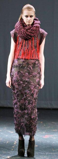 JOHAN KU Knit Picks, Knitting Designs, Volcano, Wearable Art, Knit Dress, Lace Skirt, High Fashion, Knit Crochet, Knitwear