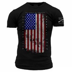 Shop Grunt Style - Fabric of Freedom T-Shirt - GovX Exclusive deals at GovX! We offer exclusive government and military discounts. Register for free today!