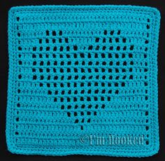 Free Crochet Pattern: Heart Filet Block 2. ❤CQ crochet hearts valentines
