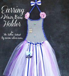 Ballerina Earring and Hair Bow Holder - The Ribbon Retreat Blog