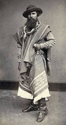Gaucho from Argentina, 1868