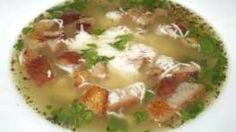 Oukrop neboli česnečka | Vaření s Tomem Cheeseburger Chowder, Thai Red Curry, Mashed Potatoes, Soup, Ethnic Recipes, Soups, Shredded Potatoes, Chowder