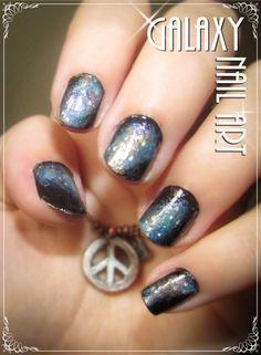 My galaxy Nail Art new version - #nailart #galaxy #space #diygalaxynails