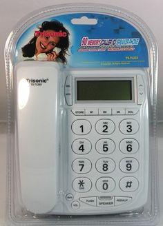 NEW 90 MEMORY CALLER ID SPEAKER PHONE CORDED TELEPHONE
