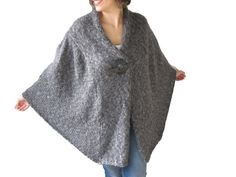Hey, I found this really awesome Etsy listing at https://www.etsy.com/listing/255220173/new-dark-gray-hand-knitted-plus-size