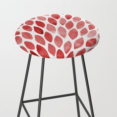 Modern red bar stool, pattern design by wackapacka. Watercolor Brushes, Watercolors, Red Bar Stools, Home Bar Designs, Bar Ideas, Brush Strokes, Pattern Design, Modern Design, Essentials