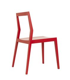 Room B Side Chair  $520.00  Red Lacquer Wood - Mortise & Tenon Joints