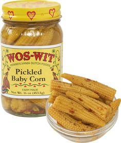 Pickled Baby Corn: The baby corn is grown and canned on a farm in ...
