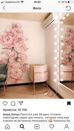 Nail Salon Decor, Beauty Salon Decor, Beauty Salon Design, Boutique Interior, Home Interior, Interior Design Living Room, Bedroom Decor, Wall Decor, Mural Wall Art