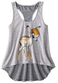 Disney Artist Collection for Target® Bambi Hi-Low Racerback Tank - Charcoal Gray.Opens in a new window Disney Shirts, Disney Outfits, Outfits For Teens, Cool Outfits, Summer Outfits, Disney Tanks, Disney Clothes, Bambi, Disney Inspired Fashion