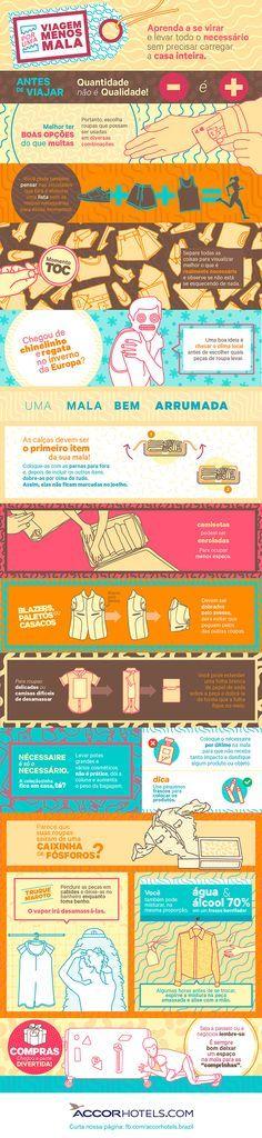 Como arrumar uma mala de viagem - Infográfico Accorhotels