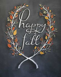 Fall Sign: Fall is here and this darling fall chalkboard sign is sure to welcome fall into your home!
