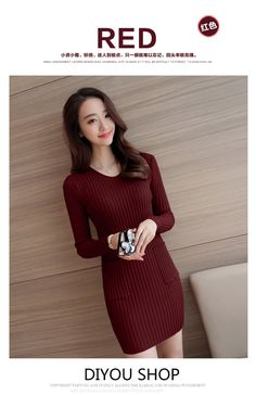 Shop V-Neck Knitted Bodycon Dress for RM42.00 only. New in every 30 mins✓ Lowest price✓ Free delivery above RM75✓365 Fashion  Malaysia