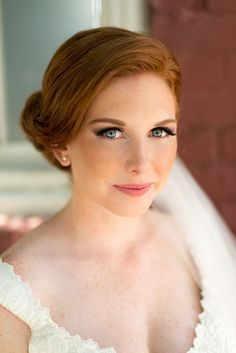 redheaded bride makeup, photo by LaCross Photography http://ruffledblog.com/notwedding-charlotte #weddingideas #weddingmakeup #bridal