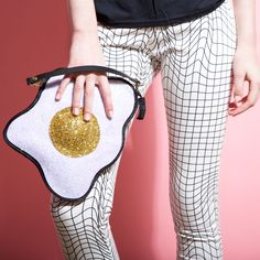 Glitter Fried Egg Clutch