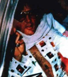 """June 2017  Martin Robbins FB: """"(Elvis) Leaving Madison Square Garden - June 10th, 1972.  This rare (used to be) photo was given to me by a fan about 10 years ago in bad shape. In fact, it was a photo of a photo. There were lots of fold marks and blotches. I cleaned it up as best as I could and posted it on an Elvis forum with his permission.  A few years later it ended up on the """"Prince From Another Planet"""" DVD. Praise the internet! :)  I would love to see the uncropped original."""""""