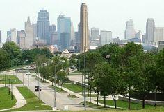 Missouri beautiful Kansas City skyline