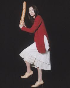 #新垣結衣 #ガッキー#一番バッター新垣#おーっとバットはフランスパンだぁ
