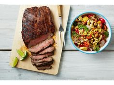Get Chili-Lime Flank Steak Recipe from Food Network