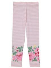 Floral Stripe Leggings from George at Asda. Pretty pink with flowers #toddler #george #asda #leggings #kids #fashion #stripe