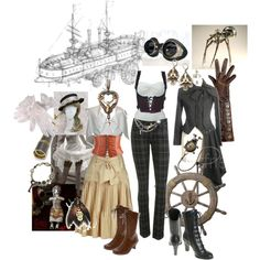 Keely and Cadence [Airship] breed your own co-pilot by morrigankeeperoftales on Polyvore featuring polyvore, fashion, style, Nordstrom, Wet Seal, Gargyle, Dorothy Perkins and Calleen Cordero