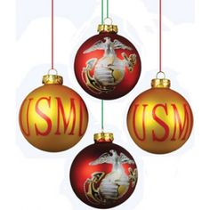 Grit can help you add a touch of Marine Corps home decoration to every corner of your house with blankets, pillows, drink ware, kitchen accessories and more. We have all the USMC home decorations you want. Christmas Ornament Sets, Christmas Bulbs, Christmas Decorations, Merry Christmas, Marine Mom, Marine Corps, Christmas Deserts, Marines Girlfriend, Homemade Christmas Gifts