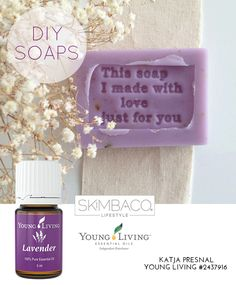 I love these lavender soaps that you can make at home (great gifts too). They smell so good!