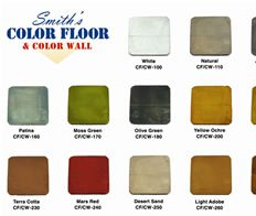 cement floor color chart