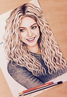 :) Shakira ، the best singer :) - مطالب شهریور 1394 Amazing Drawings, Realistic Drawings, Beautiful Drawings, Beautiful Pictures, Pencil Art Drawings, Cute Drawings, Drawing Sketches, Hair Sketch, Cartoon Tattoos