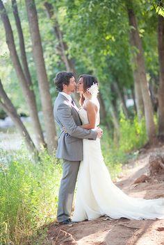 Wedding Couple, Creekside at L'Auberge  Photo by Sedona Bride