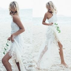 Spell Designs Casablanca Lace Halter Gown Wedding Dress On Sale - Off Second Hand Wedding Dresses, New Wedding Dresses, Spell Designs, Halter Gown, Casablanca, Stretch Lace, Spelling, Backless, Neckline