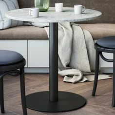 Ebern Designs Atmore Pedestal Dining Table | Wayfair Pedestal Dining Table, Solid Wood Dining Table, Round Dining Table, Small Dining Area, Glass Front Cabinets, Kitchen Cabinets, Interior Exterior, Interior Design, Table And Chairs
