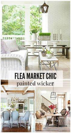 Flea Market Chic: Painted Wicker