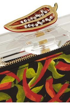 Detail Charlotte Olympia | Chili Pandora Perspex clutch | NET-A-PORTER.COM