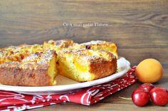 Prajitura cu caise si cirese - Retete Timea Romanian Desserts, French Toast, Breakfast, Food, Morning Coffee, Essen, Meals, Yemek, Eten