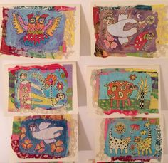 Handmade paper and fabric cards