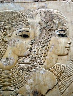 Detail from the tomb of Ramose, Sheikh Abd el-Qurna, Thebes  http://www.pinterest.com/biccard/ancient-egypt/