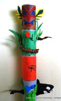 Tin Can Totem Poles ~ Each student could make one section. Then, groups assemble totem poles. Could use paper rolls, cups, card stock, or other material to start.