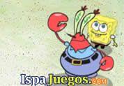 Juego de Bob Esponja Kash Krab | JUEGOS GRATIS: Don cangrejo tiene la oportunidad de atrapar todo el dinero que pueda con la ayuda de bob esponja, primero captura todas las hamburguesas que tiren y luego dispararlas a las tortugas que lleven dinero, acumula lo mas que puedas para ser millonario