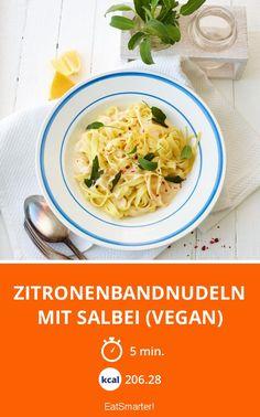 Zitronenbandnudeln mit Salbei (vegan) - smarter - Zeit: 5 Min. | eatsmarter.de